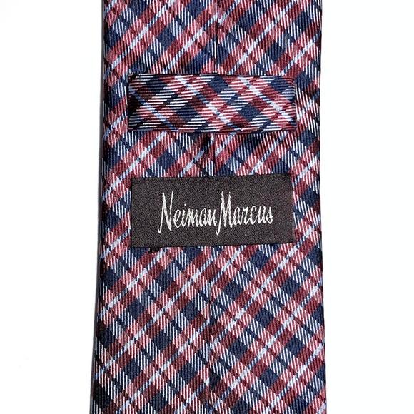 Neiman Marcus Other - Neiman Marcus All Silk Plaid Skinny Tie
